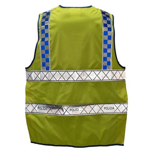 STC00012 - COLETE REFLETOR TECIDO AMARELO TPHX POLICIA