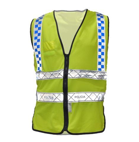 STC0007 - COLETE REFLETOR REDE  POLICIA RPHX AMARELO